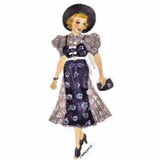 elegant lady pin cutout