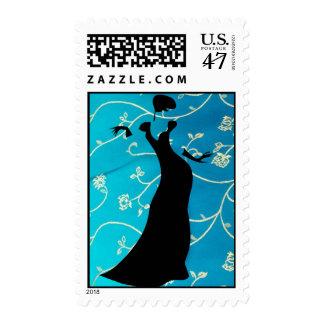 Elegant Lady Postage Stamp