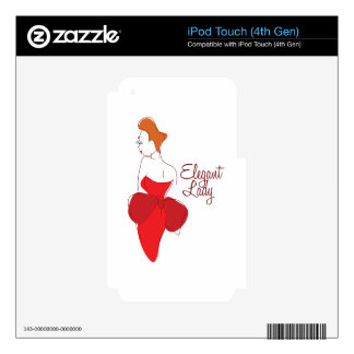 Elegant Lady iPod Touch 4G Decals