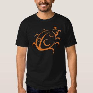 Elegant Ladybug Tattoo Style T Shirt