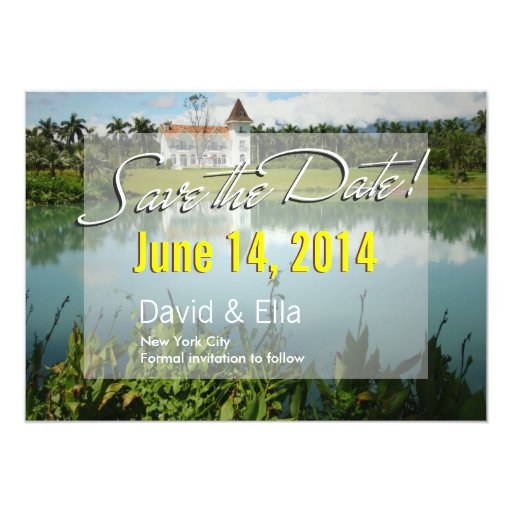 Elegant Lake House Save the Date Announcement