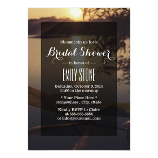 Elegant Lake Sunset Bridal Shower Invitations