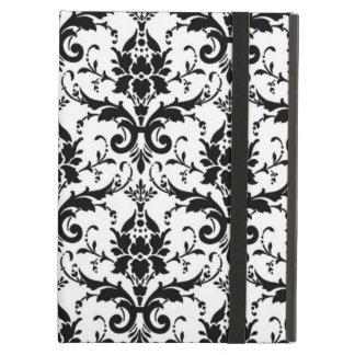 Elegant Large Black Damask Pattern with Filigree Case For iPad Air