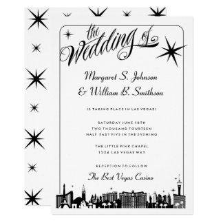 Elegant Las Vegas Strip Skyline Wedding Card