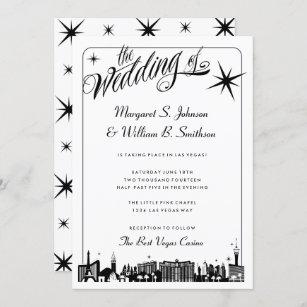 Las Vegas Strip Personalised Wedding or Party RSVP Cards
