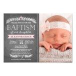 Elegant Laurels Pink | Baptism Invitation