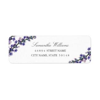 Elegant Lavender Address Labels