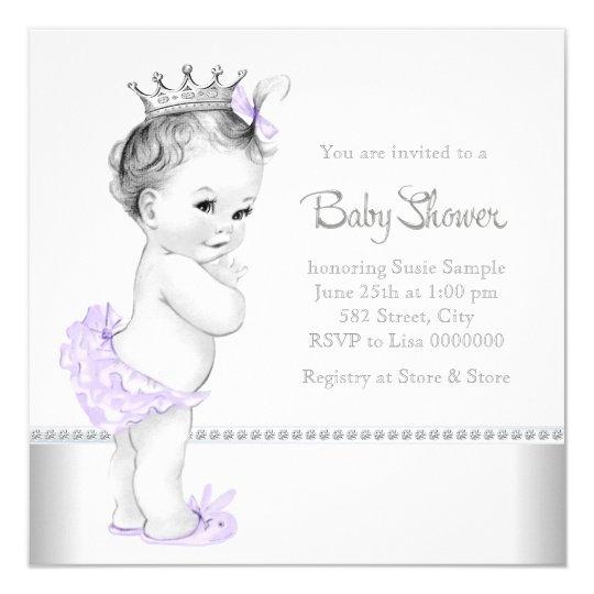 Elegant lavender and silver baby shower invitation zazzle elegant lavender and silver baby shower invitation filmwisefo