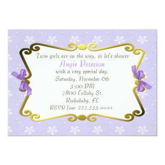 Elegant Lavender baby shower invitation