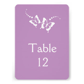 Elegant Lavender Beauty Butterfly Table card