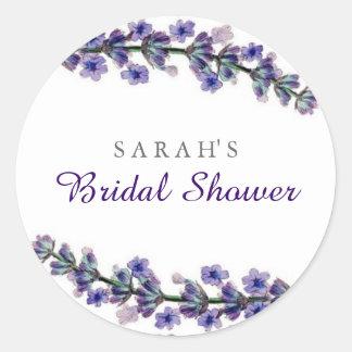 Elegant Lavender Bridal Shower Sticker