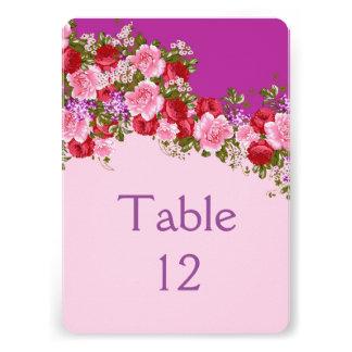 Elegant Lavender Floral Bouquet Table card