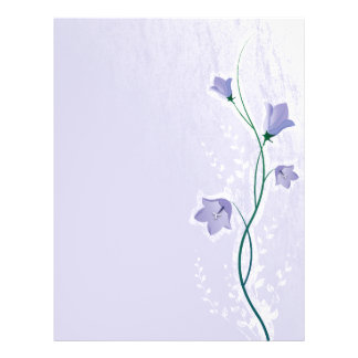 elegant lavender floral design flyer