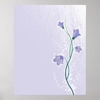 elegant lavender floral design poster