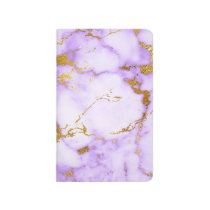 Elegant Lavender Gold Faux Metallic Marble Pattern Journal