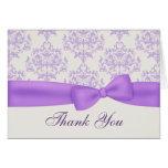 Elegant Lavender & Ivory Wedding Thank You Card