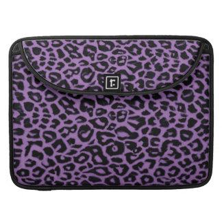 Elegant Lavender Leopard Maccessories MacBook Pro Sleeves