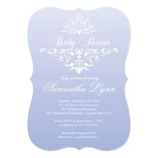 Elegant Lavender Ombre Baby Shower Invitation