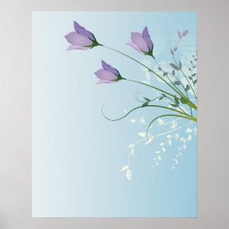 elegant lavender purple tulips design poster