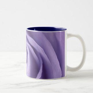 Elegant Lavender Rose Collection Two-Tone Coffee Mug