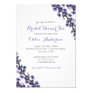 Elegant Lavender Teacup Bridal Shower Invitation