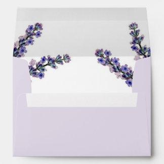 Elegant Lavender Wedding Envelope