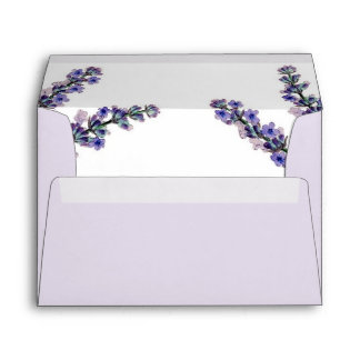 Elegant Lavender Wedding Envelope