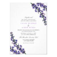 Elegant Lavender Wedding Invitation