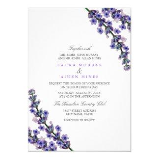 Superb Elegant Lavender Wedding Invitation