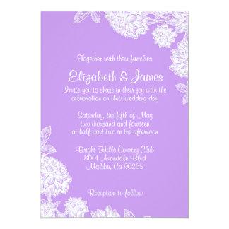 "Elegant Lavender Wedding Invitations 5"" X 7"" Invitation Card"
