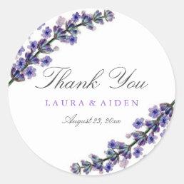 Elegant Lavender Wedding Stickers
