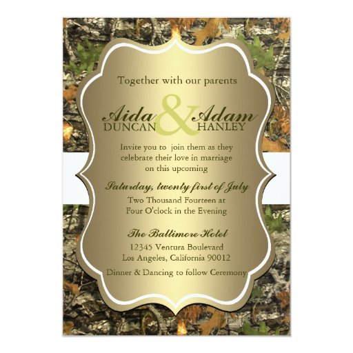 Where to Get Inexpensive Camo Wedding Invitations Camo Ever After