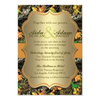 Elegant Lavish Gold Rustic Camo Wedding Invitation (<em>$2.01</em>)