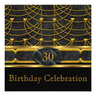 Elegant Leather Metal Gold Birthday Party 2 Card