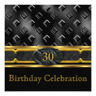 Elegant Leather Metal Gold Men's or Women's Party Card