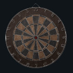 "Elegant Leather Print Dartboard With Darts<br><div class=""desc"">Classy black and brown leather print dart board.</div>"