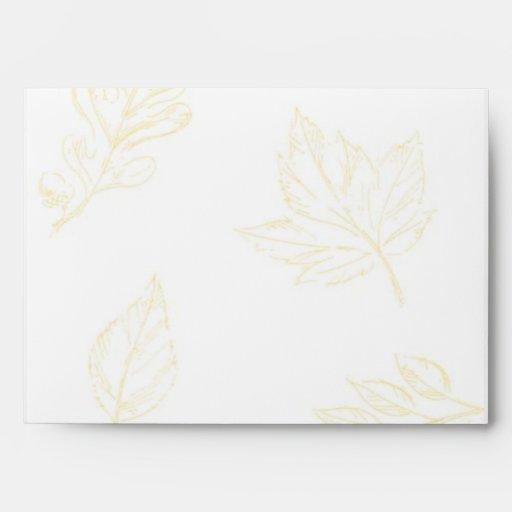 Elegant Leaves Envelope