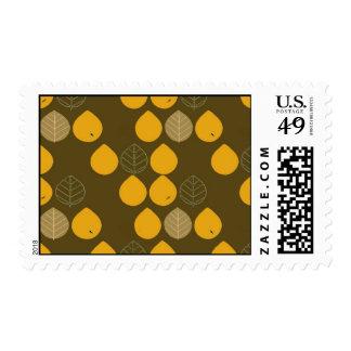 Elegant leaves for Thanksgiving Stamps