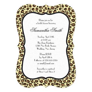 Elegant Leopard Animal Print Bridal Shower Card