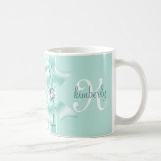 Elegant Leopard Bow & Diamond Personalized Girly Coffee Mug
