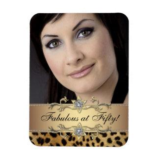 Elegant Leopard Photo Magnets