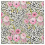 Elegant leopard print and floral design fabric