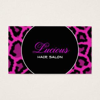 Elegant Leopard Print Business Card