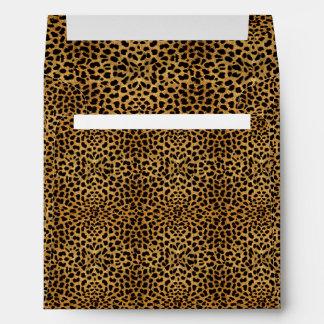 Elegant Leopard Print Envelope
