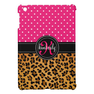 Elegant Leopard Print Pink Dots Girly Chic Custom Case For The iPad Mini