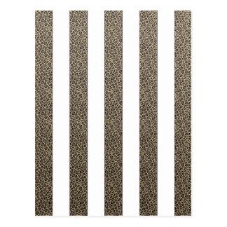 Elegant  Leopard print stripes choose color Postcard