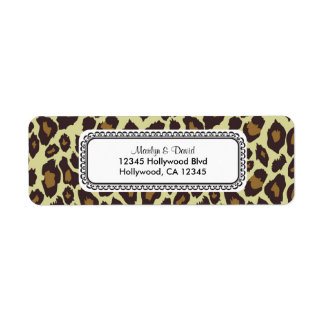 Elegant Leopard Return Address Label