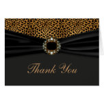 Elegant Leopard Thank You Stationery Note Card