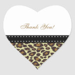 Elegant Leopard Thank You Stickers
