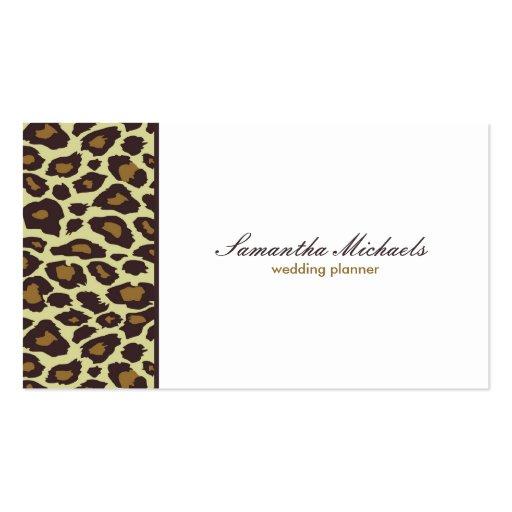 Elegant Leopard Wedding Planner Business Cards